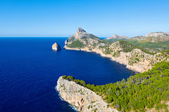 Panorama view of Cap de Formentor - wild coast of Mallorca, Spain Stock Photography