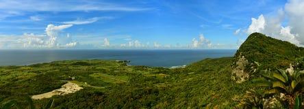 Panorama view of Cape Hedo from Dai Sekirinzan National PArk in Okinawa Stock Images