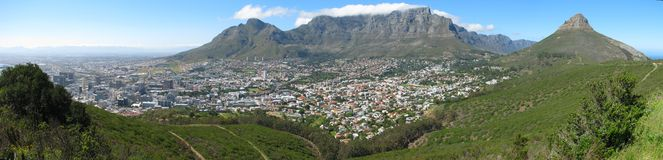 Panorama view of Cape Town from Signal Hill Royalty Free Stock Images