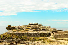 Panorama view of the Castro de Barona, a fort located in A Corun Royalty Free Stock Image