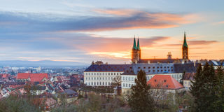Panorama View on the cathedral of Bamberg Stock Images
