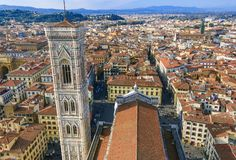 Panorama view on Florence, Italy stock photo