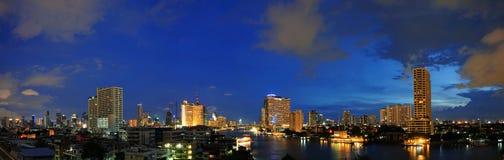 Panorama view of Chao Phraya river, Bangkok, Thailand Stock Image