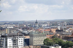 Panorama view of Cluj-Napoca town from Transylvania region in Romania Royalty Free Stock Image