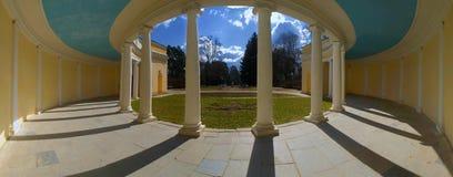 Panorama view Colonnade echo . The city park  Alexandria Bila Ts Stock Photography