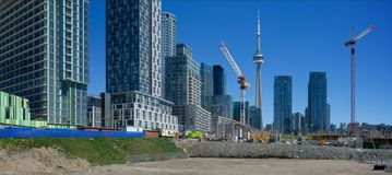 Panorama view of condominium development Royalty Free Stock Image