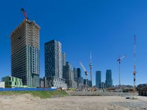 Panorama view of condominium development Stock Photo