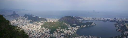 Panorama view from Corcovado in Rio de Janeiro Royalty Free Stock Photo