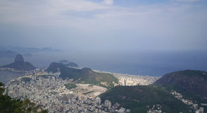 Panorama view from Corcovado in Rio de Janeiro Royalty Free Stock Image