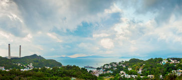 Panorama view of country side area of asia Royalty Free Stock Photography