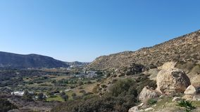Panorama view. View of the countryside in Crete Stock Photography