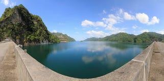 Panorama view of dam Royalty Free Stock Image
