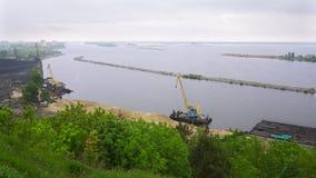 Panorama view of Dnieper River, Ukraine Stock Image