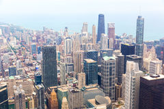 Panorama view of downtown Chicago Stock Image