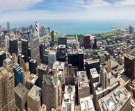 Panorama view of downtown Chicago Stock Images