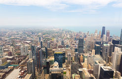 Panorama view of downtown Chicago Stock Photo