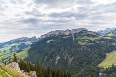 Panorama view of Ebenalp Stock Images