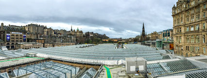 Panorama view of Edinburgh old town, UK Stock Photography