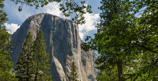 Panorama view of El Capitan Stock Images