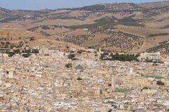 Panorama view of Fez, Morocco Royalty Free Stock Images