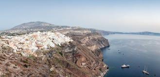 Panorama view of Fira, Santorini Royalty Free Stock Photos