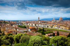 Panorama view of Firenze. (Florence) and  the Renaissance Duomo Royalty Free Stock Photography