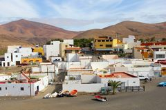 Fishing village panorama mountains, Ajuy, Fuerteventura,Canary Islands Royalty Free Stock Photos