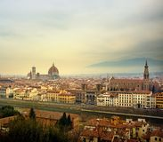 Panorama view of Florence city Stock Photo