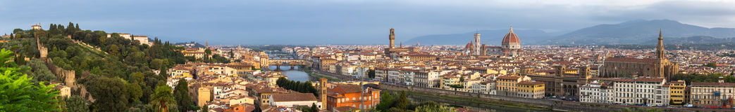 Panorama view of Florence historical center Stock Images