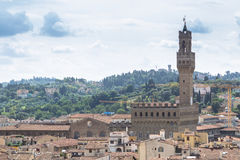 Panorama view of Florence from Santa Maria del Fiore church, Ita. Panorama view of Florence from Santa Maria del Fiore on old city, Italy Stock Image