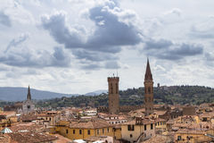 Panorama view of Florence from Santa Maria del Fiore church, Ita. Panorama view of Florence from Santa Maria del Fiore on old city, Italy Royalty Free Stock Photo