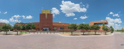 Panorama view Fort Worth Museum of Science and History stock image