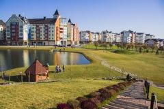 Panorama view of German village in Krasnodar Stock Photography