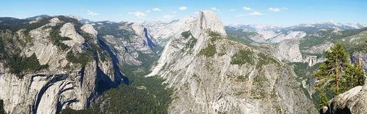 Panorama view from Glacier point, Yosemite Stock Images