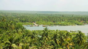 Panorama view of Goa nature in India. At sunny day stock footage