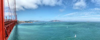 Panorama view from Golden Gate Bridge Stock Images