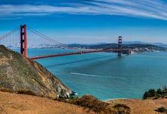 Panorama View Golden Gate Bridge San Francisco USA stock photos