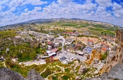 Panorama view  of Goreme village in Cappadocia Stock Images