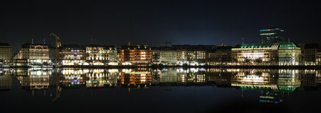Panorama view  Hamburg, Germany Royalty Free Stock Photos