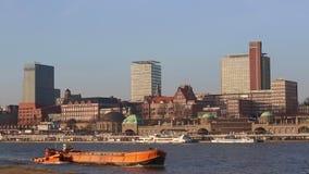 Panorama view of Hamburg Hafencity stock video