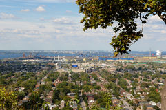 Panorama view of Hamilton, Canada. royalty free stock image