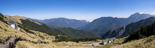 Panorama view of Hehuanshan Stock Images