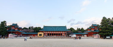 Panorama view of the Hei-an Shire in Kyoto, Japan Royalty Free Stock Photo