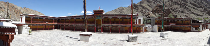 Panorama view of Hemis Monastery against deep blue sky , Leh, in Royalty Free Stock Photography