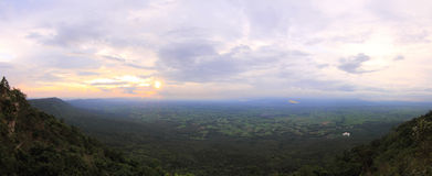 Panorama  view of the high mountain Stock Images