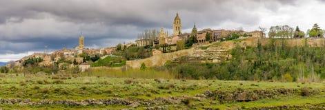 Panorama view at the historical city Segovia Royalty Free Stock Photo