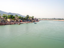 Rishikesh panorama Stock Images