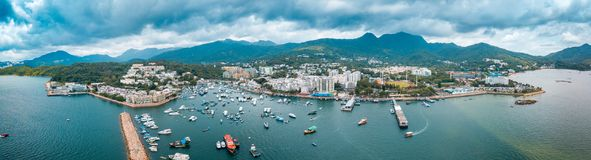 Panorama View Of Hong Kong City From the Sky Royalty Free Stock Images