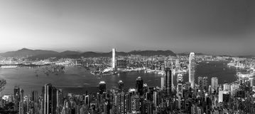 Panorama View Of Hong Kong City From the Sky Royalty Free Stock Photo