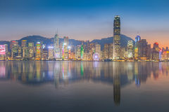 Panorama view of Hongkong island building Royalty Free Stock Images